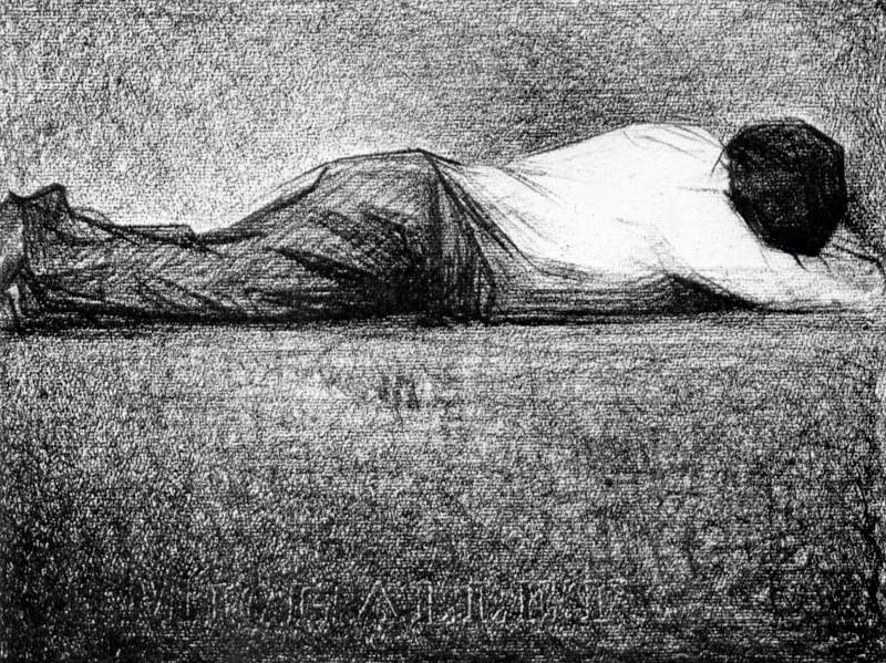 Man sleeping by Seurat